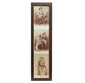 Three Photographs of Buffalo Bill and Sitting Bull