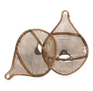 Pair of Early Native American Snow Shoes owned by Dillon Wallace