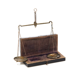 Antique Mining Scales with Box