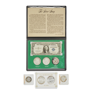 Six Assorted Silver Dollars and Half Dollars
