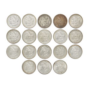 Eighteen Morgan Silver Dollars