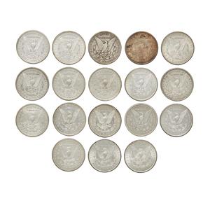 Eighteen Morgan Silver Dollars