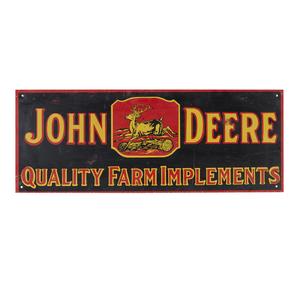 John Deere Tin Advertising Sign