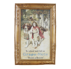 Self-Framed Grape-Nuts Tin Advertisement