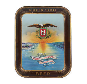 Golden State Beer Tin Serving Tray
