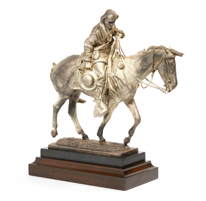 Buckeye Blake Sterling Sculpture of Kit Carson, 272 ozt