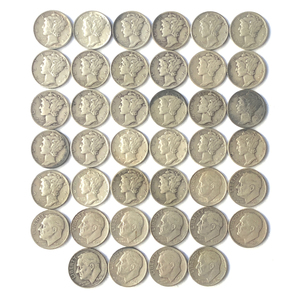 113 Assorted U.S. Dimes from the early 20th century