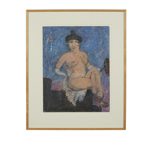 Mixed Media, Jack Ogden (b. 1933), Seated Woman