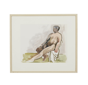 Watercolor Painting, Ruth Rippon (b. 1927), Nude Figure