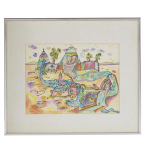 Watercolor, Pam Avery, Imaginary Landscape