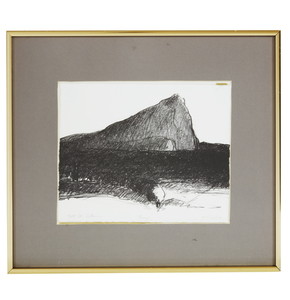 Lithograph, Gregory Kondos (b. 1923), Mt. St. Victoire