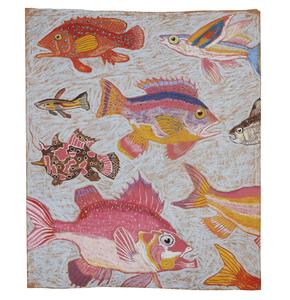 Pastel Fish Drawing