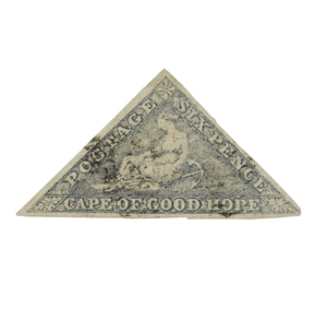 Cape of Good Hope Stamps, 1853-1858 Printed by Perkins, Bacon and Co. - #5b, qty 1, full margins, VF, cat $540