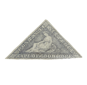 Cape of Good Hope Stamps, 1853-1858 Printed by Perkins, Bacon and Co. - #5c, qty 1, F, cat $1200