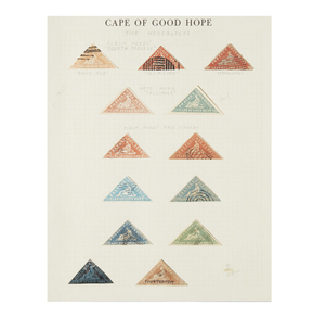 Forgeries of Cape of Good Hope Triangle Stamps - Six Pages of Triangle Forgeries, qty 70+ (essential for an expert)
