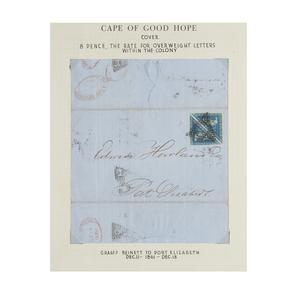 Postal History - Cover, Pair #4, Dec.1861, Graaff Reinett to Pt. Eliz, Markings, cat $160+