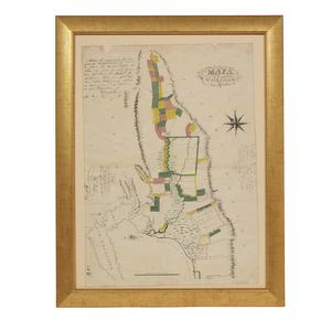 1853 Mapa Del Valle Del Sacramento, John Bidwell