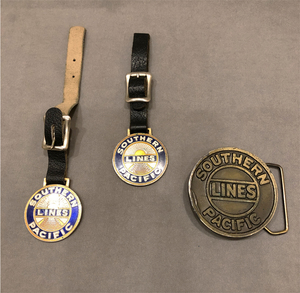 Southern Pacific Railroad Fobs and Buckle