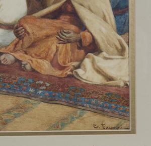Watercolor Painting, Enrico Tarenghi (1848-1938),