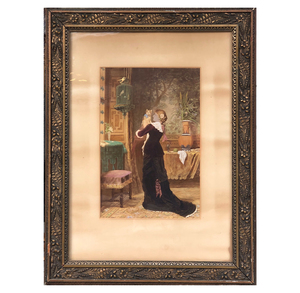 Reproduction of Victorian Interior Painting