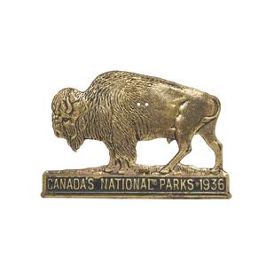 1936 Canadian National Parks Radiator Badge