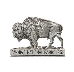 1938 Canadian National Parks Radiator Badge