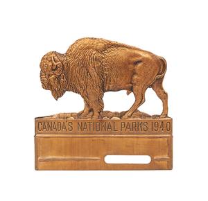 1940 Canadian National Parks Radiator Badge