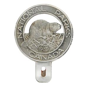 1939 Canadian National Parks Beaver License Plate Topper