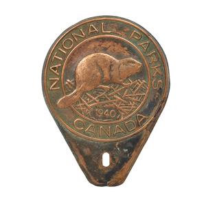 1940 Canadian National Parks Beaver License Plate Topper