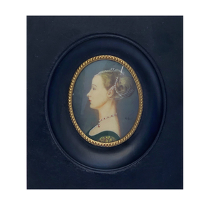 19th Century Portrait Miniature Signed
