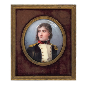19th Century Painted Porcelain Portrait