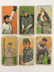 Six 1909-1911 T206 Baseball Cards