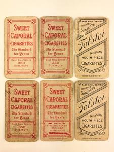 Six 1909-1911 T206 Baseball Cards