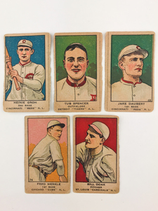 Five 1919 W514 Baseball Cards