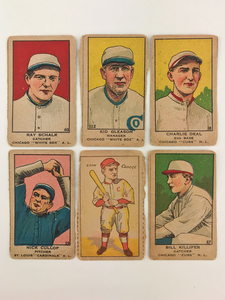 Six 1919 W514 and 1916-1920 W-UNC Baseball Cards