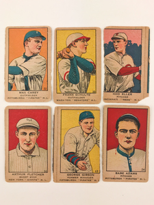 Six 1919 W514 Baseball Cards