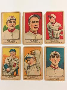 Six 1919-1921 W514 Baseball Cards