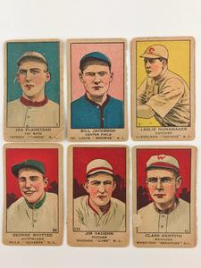 Six 1919 W514 Baseball Cards