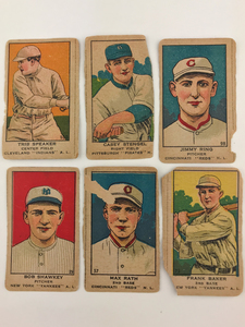 Six 1911 M116 Baseball Cards