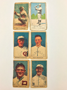 Six 1920 W519 and 1921 W516 2-2 Baseball Cards