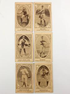 Six 1922 E120 American Carmel Baseball Cards