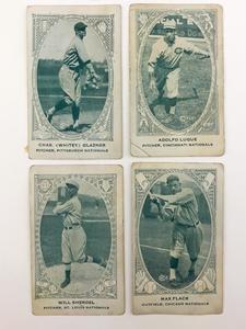 Four 1922 E120 American Carmel Baseball Cards