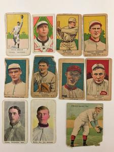 Eleven Vintage Baseball Cards