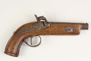 Antique Percussion Pocket Pistol with Back-Action Lock