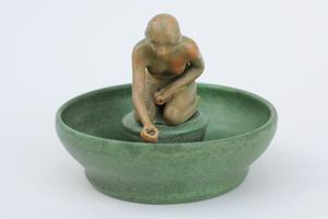 Walrath Art Deco Figural Pottery Bowl