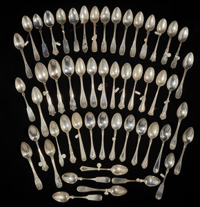 Assorted Silver Teaspoons