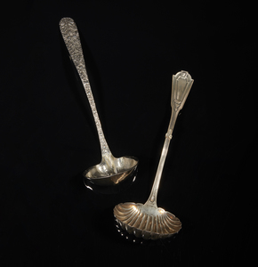 Two Sterling Silver Ladles