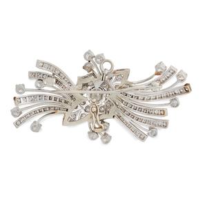 Diamond 14k Art Deco Brooch / Pendant