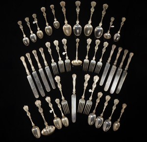 Whiting Sterling Silver Flatware, Pompadour Pattern