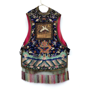 Chinese Silk Embroidered Xiape (Waistcoat) with Rank Badge
